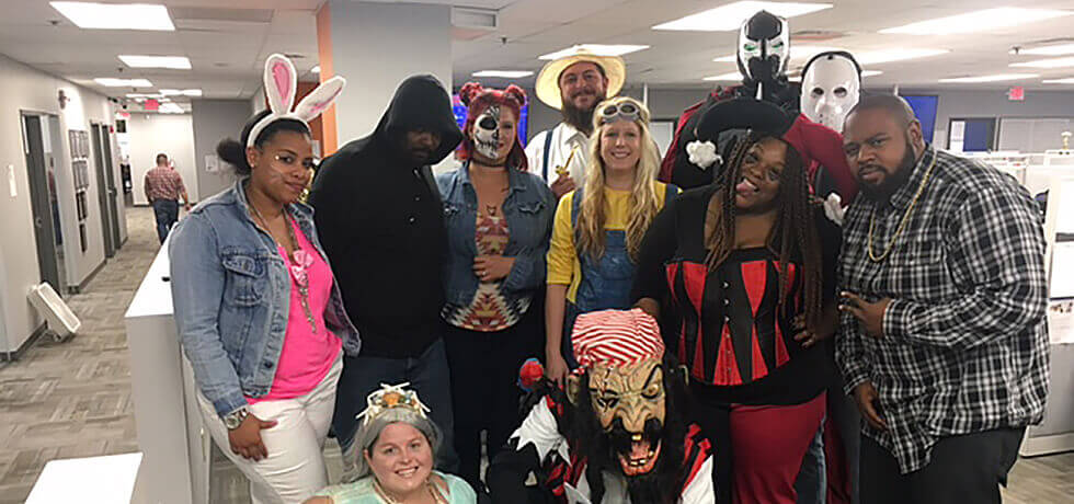 Halloween at the office! October 2016.