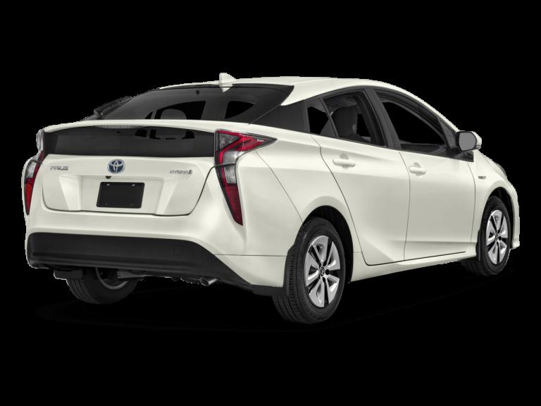 White Toyota Prius - Rear View | Carsure