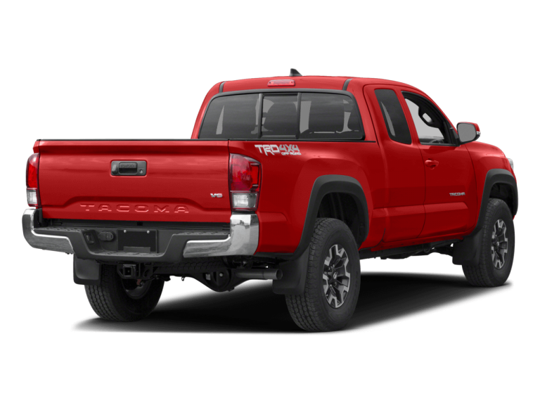 Red Toyota Tacoma - Rear View | Carsure