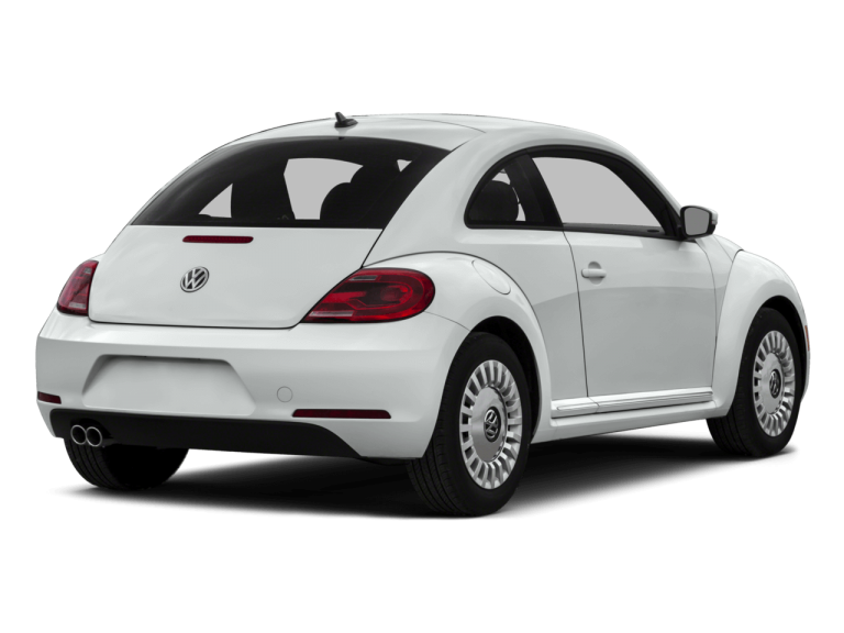 White Volkswagen Beetle - Rear View | Carsure