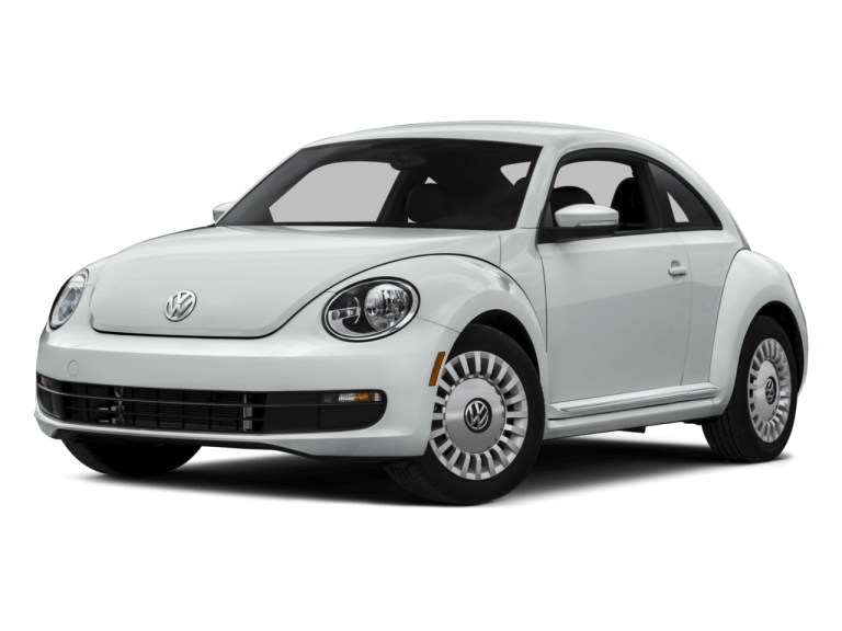 White Volkswagen Beetle - Front View | Carsure