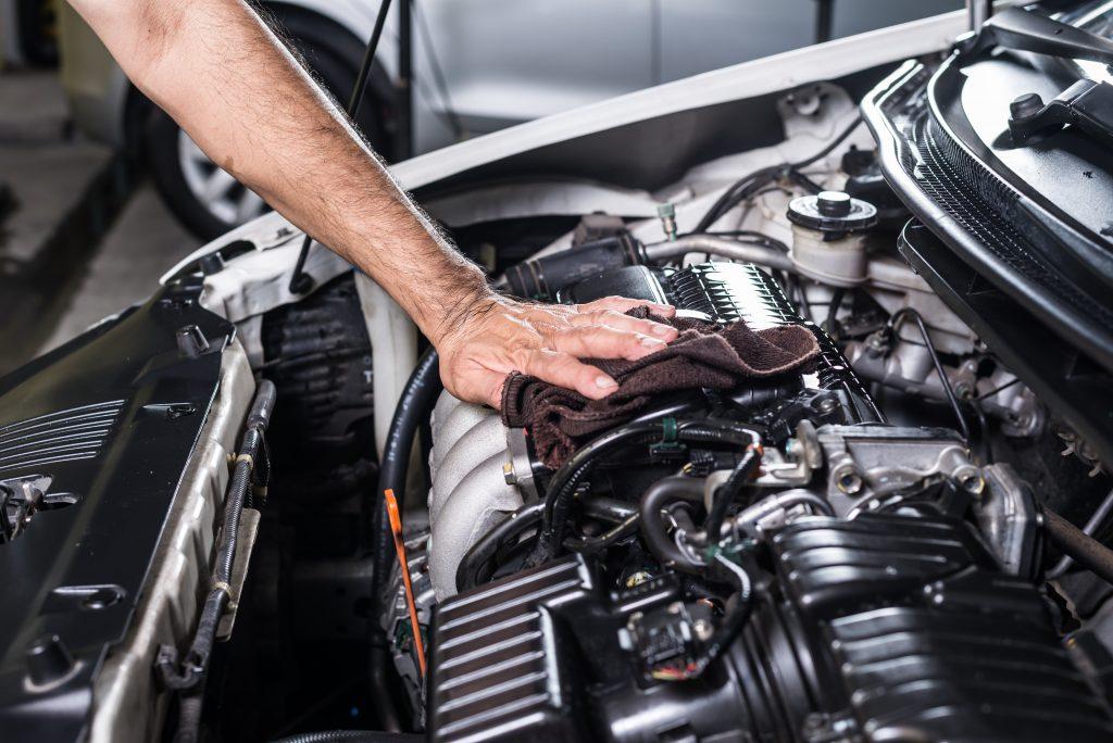 Repair for a car engine.