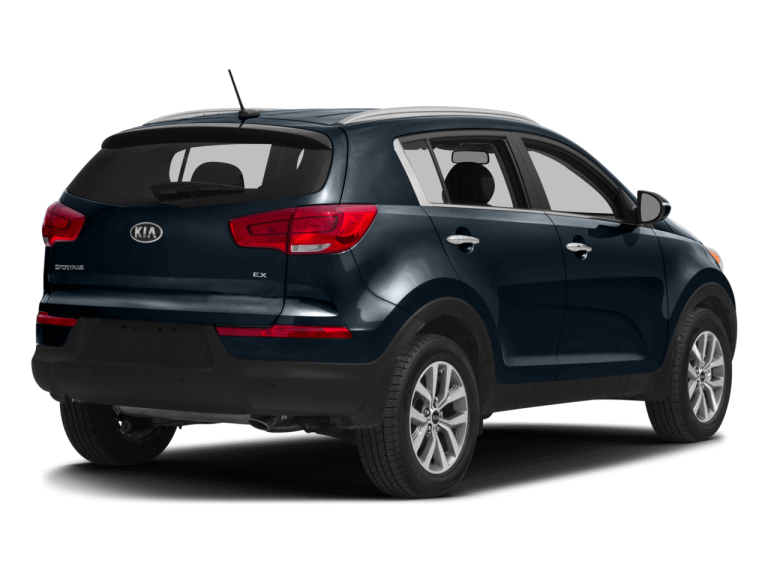 Navy Blue Kia Sportage - Rear View | Carsure