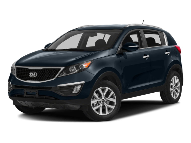 Navy Blue Kia Sportage - Front View | Carsure
