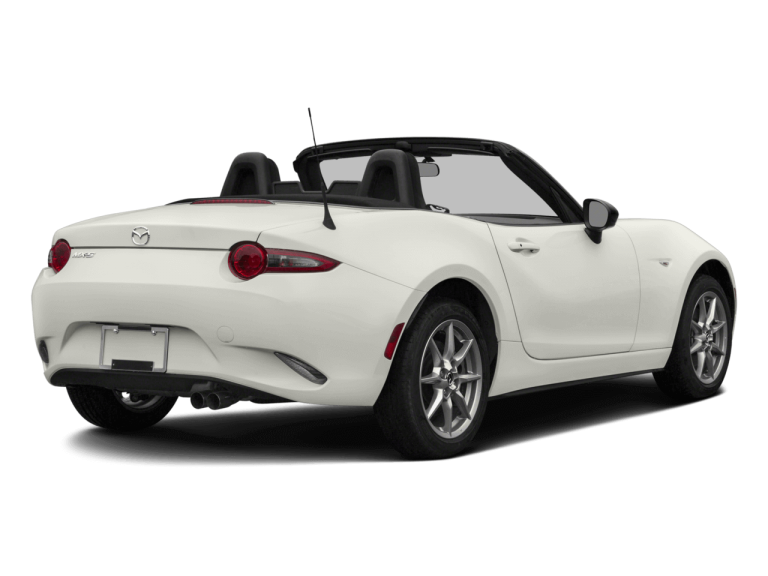 White Mazda Miata MX5  - Rear View | Carsure