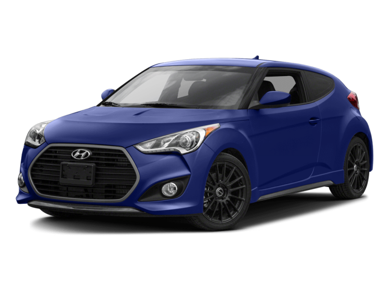 Blue Hyundai Veloster - Front View | Carsure