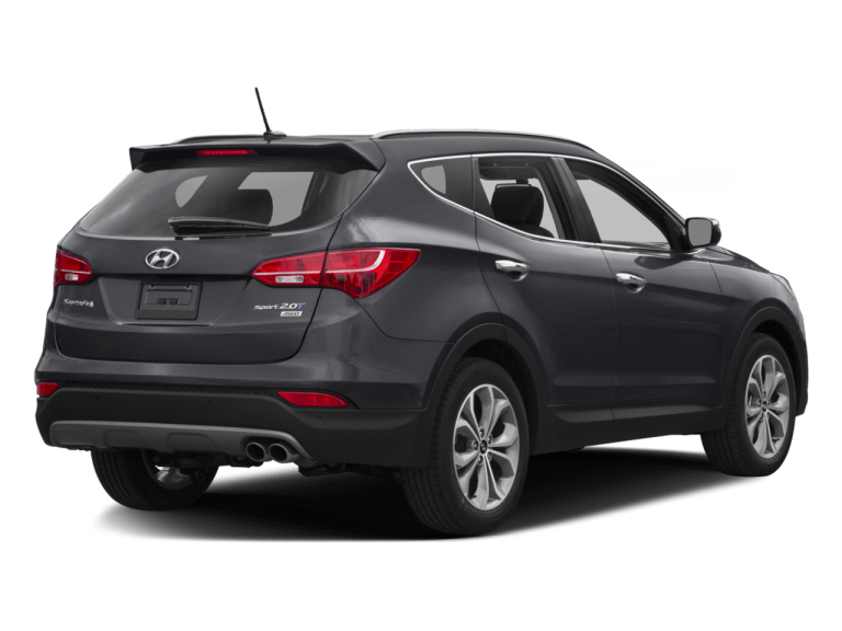 Gray Hyundai Santa Fe - Rear View | Carsure