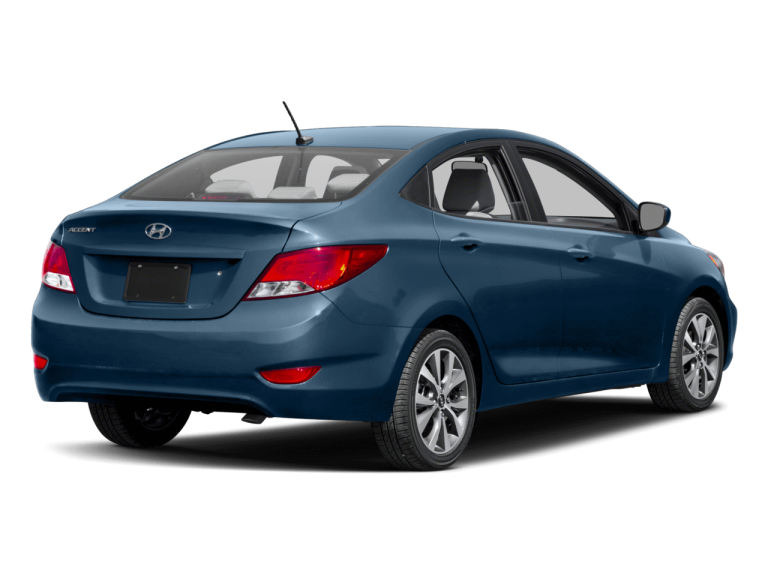 Blue Hyundai Accent - Rear View | Carsure
