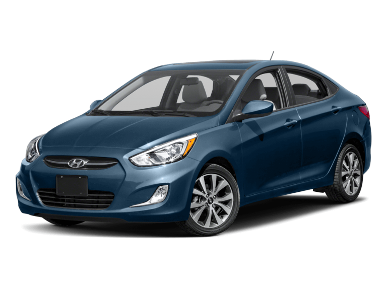 Blue Hyundai Accent - Front View | Carsure