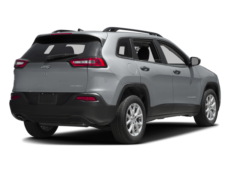 Silver Jeep Cherokee - Rear View | Carsure