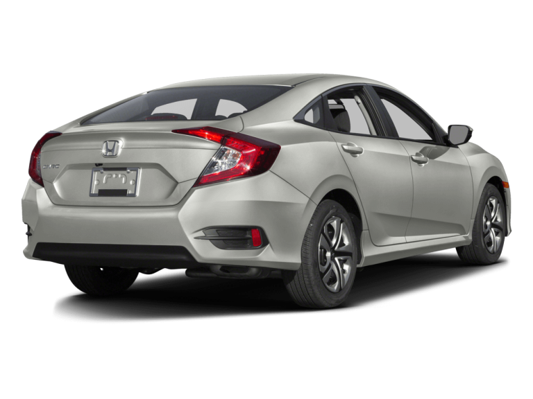 Silver Honda Civic - Rear View | Carsure