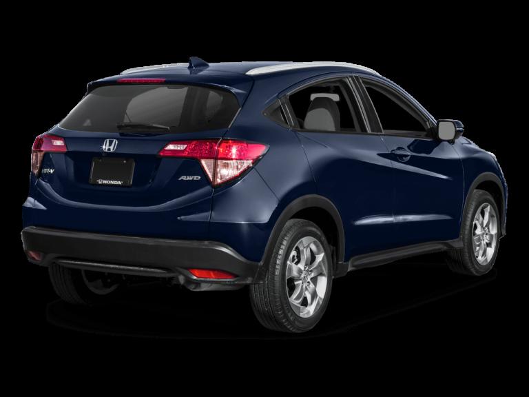 Blue Honda HRV - Rear View   Carsure
