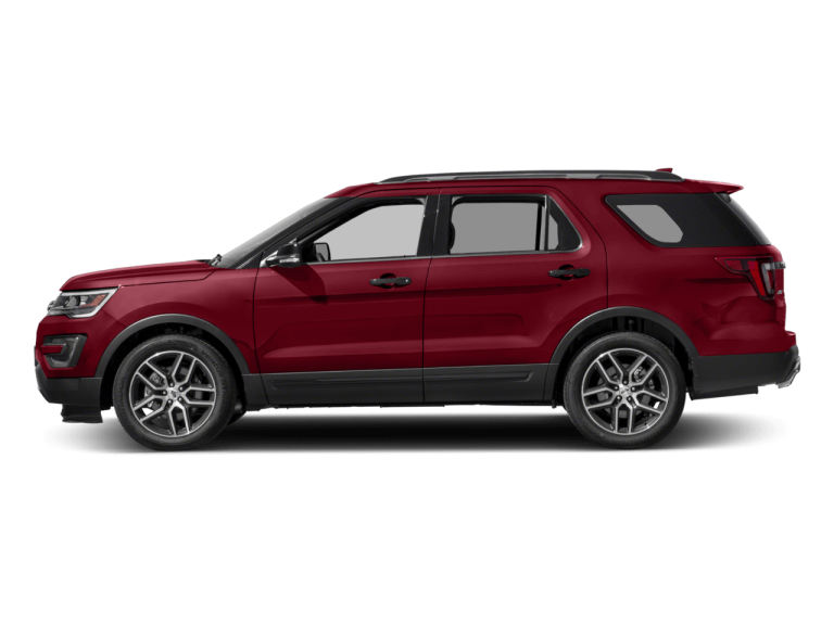 Red Ford Explorer - Side View | Carsure