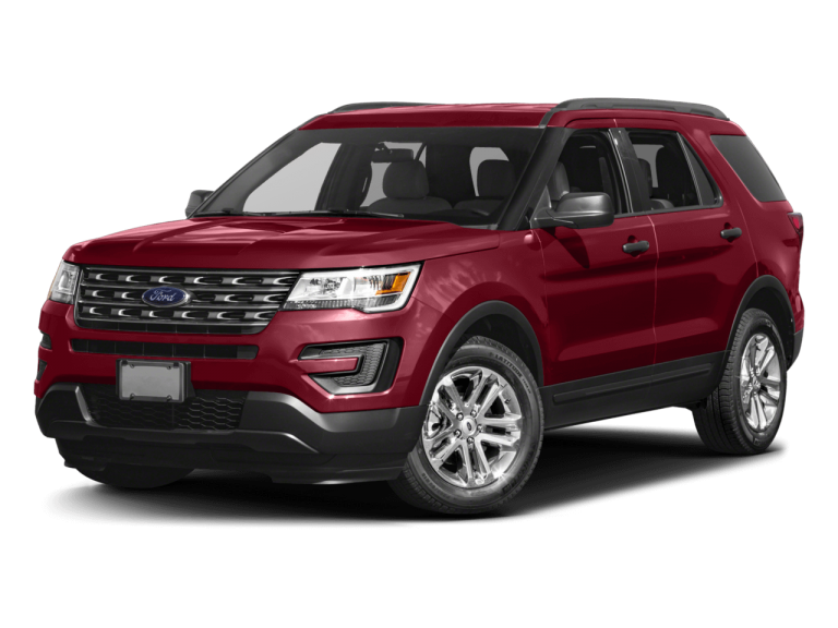Red Ford Explorer - Front View | Carsure