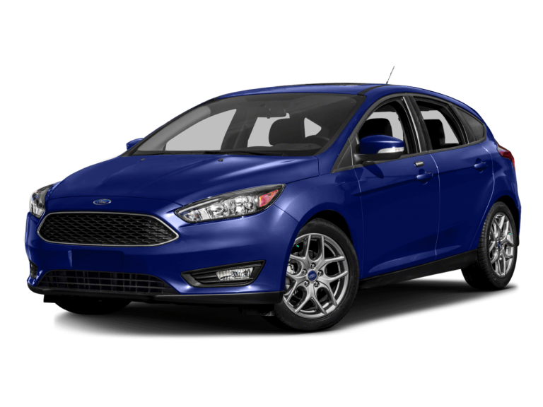 Blue Ford Focus - Front View | Carsure