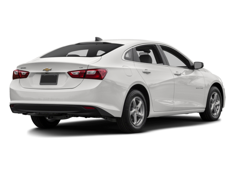 White Chevrolet Malibu - Rear View | Carsure