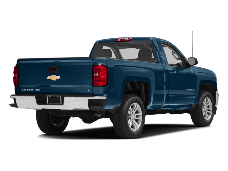 Blue Chevrolet Silverado - Rear View | Carsure