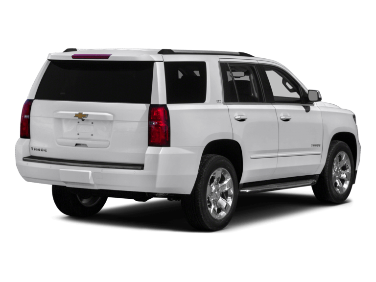 White Chevrolet Tahoe - Rear View | Carsure