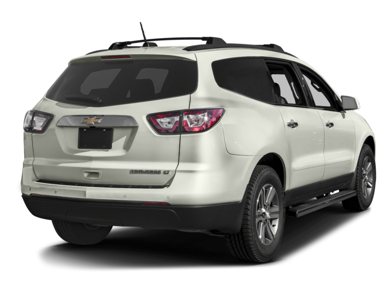 White Chevrolet Traverse - Rear View | Carsure