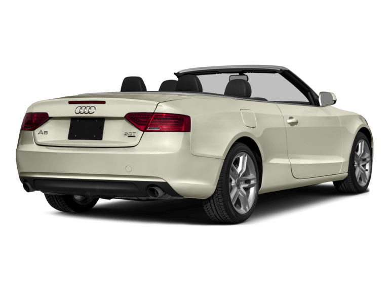 White Convertible Audi A5 - Rear View | Carsure