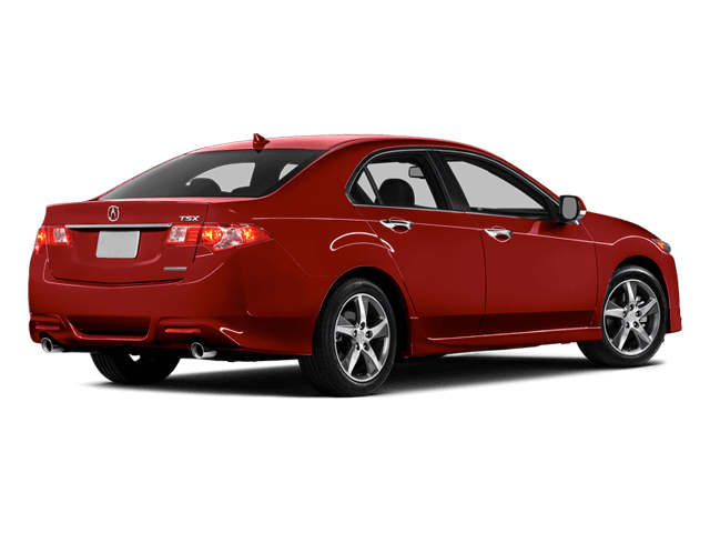 Red Acura TSX - Rear View | Carsure