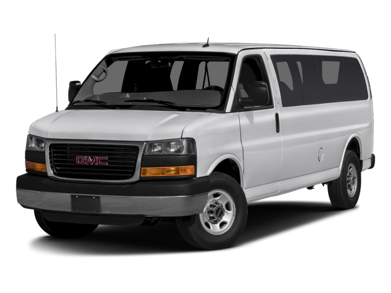 White GMC Savana - Front View | Carsure